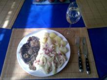 Geflügel: Putenschnitzel mit Paprika-Kohlrabi-Sahne - Rezept