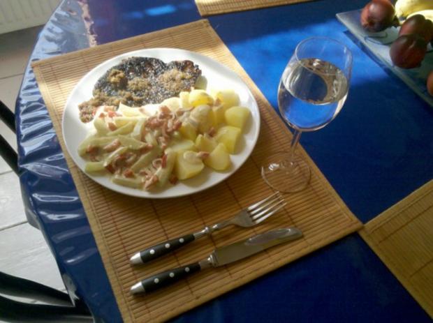 Geflügel: Putenschnitzel mit Paprika-Kohlrabi-Sahne - Rezept - Bild Nr. 6