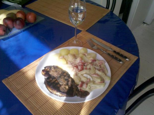 Geflügel: Putenschnitzel mit Paprika-Kohlrabi-Sahne - Rezept - Bild Nr. 8