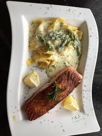 Fisch: Lachsfilet mit grünem Spargel  - Rezept - Bild Nr. 2988