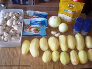 Kartoffeln mit Pilz Auflauf - Rezept