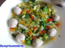 Suppe:     feine SOMMERGEMÜSE - SUPPE - Rezept