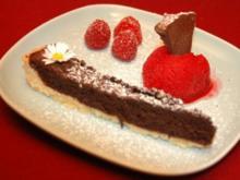 """Death in Chocolate""-Tarte mit Sorbet - Rezept"