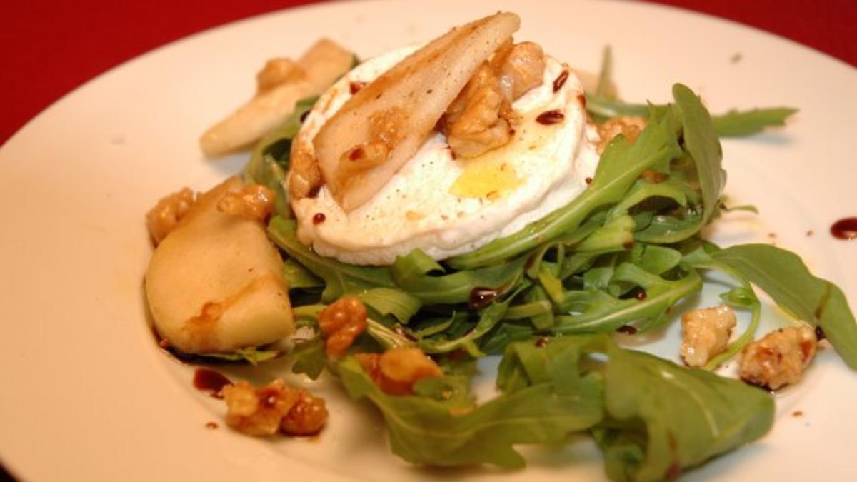 Ziegenkäse auf frischem Sommersalat - Rezept Von Einsendungen Das perfekte Dinner
