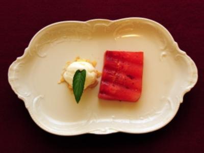 Gegrillte Melone mit schwarzem Pfeffer und Joghurteis (Susi Erdmann) - Rezept
