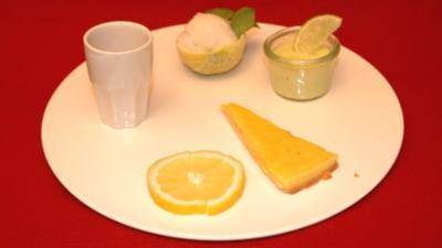 Zitronenteller: Zitronentarte, Limettencreme und Zitronensorbet - Rezept