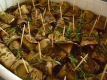 Eingelegte Auberginen mit Schafskäse - Rezept
