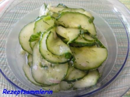 Salatbar:  GURKEN - SALAT - Rezept