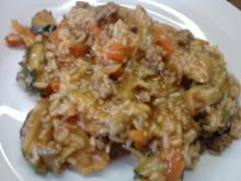 Mediterane Reispfanne - Rezept