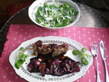Lammspieße mit Balsamico-Zwiebeln - Rezept
