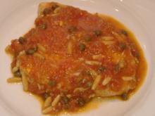 Schwertfisch mit Kapern-Pinien-Tomaten-Sauce - Rezept