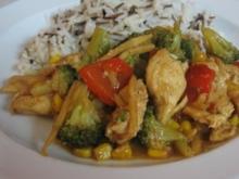 Hähnchengeschnetzeltes mit Gemüse - Rezept