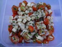 Kirschtomaten mit Hirtenkäse - Rezept