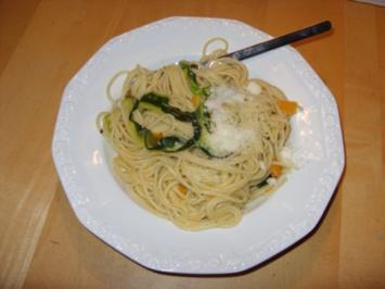 C1: Zuccini - Karotten Spaghetti - Rezept