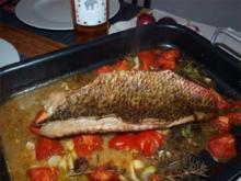 Mediteranes Fischfilet aus dem Ofen  (Filetti di pesce siciliano dal forno) - Rezept