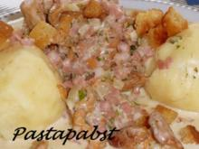 Pfifferlingsragout mit Kartoffelklößen - Rezept