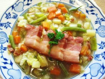 Gemüsesuppe mit Rauchfleisch ... - Rezept