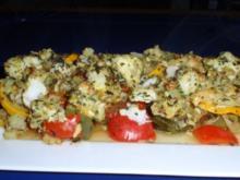 Mediterranes Gemüse mit Kabeljaurückenfilet aus dem Ofen - Rezept