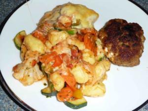 Gnocchi-Ratatouille überbacken - Rezept