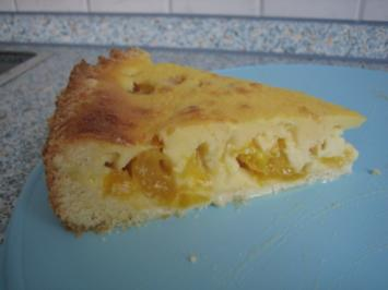 Gelber Pflaumenkuchen mit Vanillepudding - Rezept