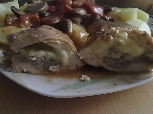 Geflügel: Hähnchenbrust gefüllt mit Mett und Gouda - Rezept - Bild Nr. 2