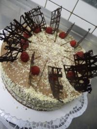 Rezept: Schokoladen- Himbeertorte