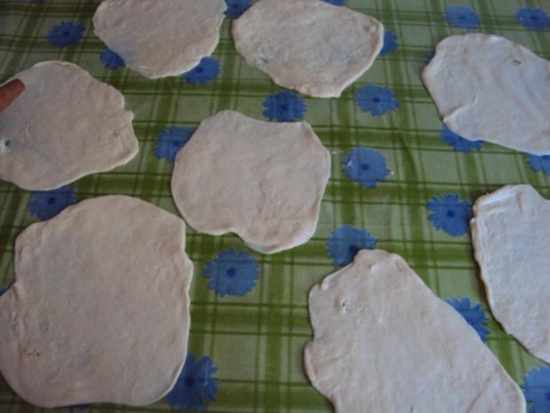 Schicht Hörnchen mit Käse - Katmer Pogaca - Rezept - Bild Nr. 7