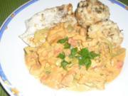 Putenschnitzel mit Eierschwammerlgulasch - Rezept