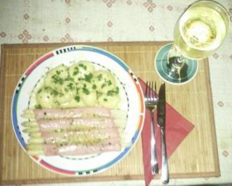 Spargel mit Trüffelschinken á la Dieter - Rezept