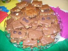 Nuss Schnitten mit Schokolade - Rezept