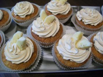 Rezept: Bananen Cupcakes mit Honig-Frosting