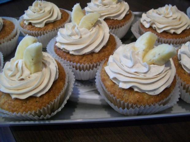 Bananen Cupcakes mit Honig-Frosting - Rezept - Bild Nr. 5