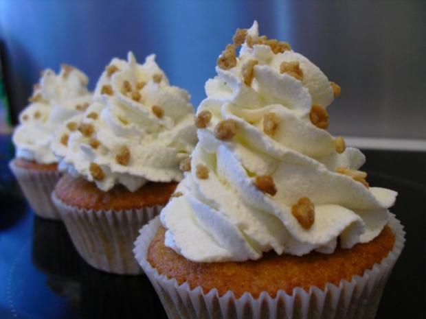 Bananen Cupcakes mit Honig-Frosting - Rezept - Bild Nr. 8