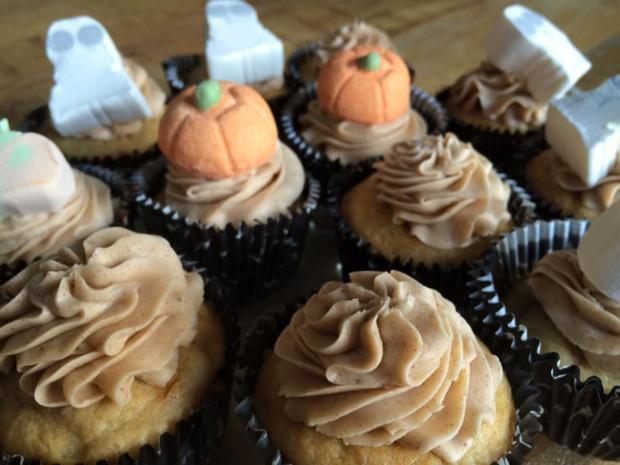 Bananen Cupcakes mit Honig-Frosting - Rezept - Bild Nr. 2171
