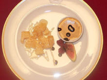 Parmigiano rosso mit Trüffel-Honig und Parfait von Balsamico und Schokolade - Rezept