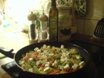Rezept: Griechische Kartoffelpfanne