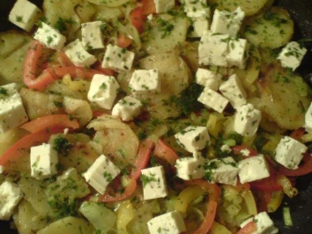 Griechische Kartoffelpfanne - Rezept