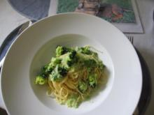 Broccoli-Sahne-Sauce auf Spaghetti - Rezept