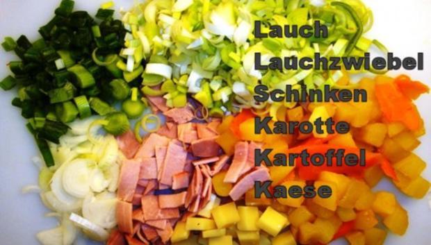 Quiche-Fermière à la Marcos mit Salatbeilage - Rezept - Bild Nr. 4