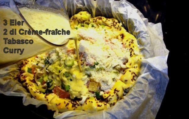 Quiche-Fermière à la Marcos mit Salatbeilage - Rezept - Bild Nr. 6