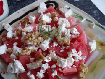 Wassermelone und Feta - Rezept