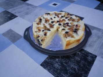 Pudding - Obst - Kuchen - Rezept