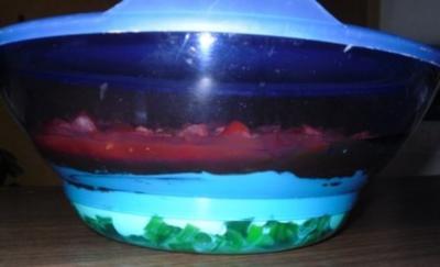 Erfrischender Schichtsalat mit Salsa - Rezept