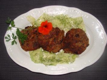 Gemüse : Kartoffelrondos mit Red Beans und Kochschinken. - Rezept