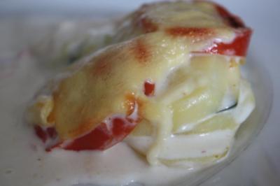 Kartoffeln-Tomaten-Zucchini-Gratin - Rezept