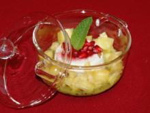 Verrine de coco mit exotischen Früchten - Rezept