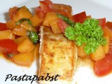 Curry-Lachs mit Aprikosen Salsa - Rezept