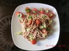 Wurstsalat mit Kirschtomaten und Fenchel - Rezept