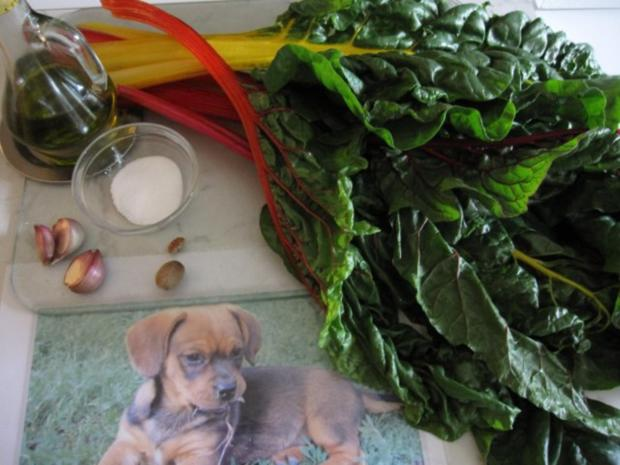 Mangold mit Polenta (Maisgrieß) - Rezept - Bild Nr. 2