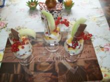 Quark- Dessert mit verschiedenen  Früchten - Rezept